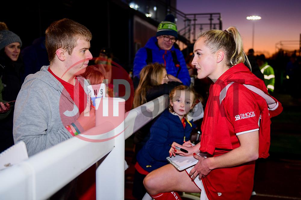 Players meet fans after the final whistle of the match - Mandatory by-line: Ryan Hiscott/JMP - 19/01/2020 - FOOTBALL - Stoke Gifford Stadium - Bristol, England - Bristol City Women v Liverpool Women - Barclays FA Women's Super League