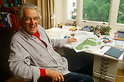 "The renowned maze designer Randoll Coate working in his studio an more labyrinth plans...Gilbert Randoll Coate (8 October 1909 - 2 December 2005) was a British diplomat, maze designer and ""labyrinthologist"". More than 50 innovative mazes exist around the world."