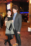 JEMIMA RUPER; BEN OCKRENT, Opening party to celebrate the adelphi Theatre  West End transfer of National Theatre's One Man, Two Guvnors. National Theatre. South Bank. London. 21 November 2011.  *** Local Caption *** -DO NOT ARCHIVE-© Copyright Photograph by Dafydd Jones. 248 Clapham Rd. London SW9 0PZ. Tel 0207 820 0771. www.dafjones.com.<br /> JEMIMA RUPER; BEN OCKRENT, Opening party to celebrate the adelphi Theatre  West End transfer of National Theatre's One Man, Two Guvnors. National Theatre. South Bank. London. 21 November 2011.