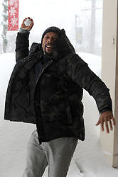 EXCLUSIVE: Rapper Common gets into a snowball fight in Park City at the Sundance Film Festival. Common was at the festival promoting his film Burning Sands in which he is Executive Producer on the project. One of the films stars decided to start a snowball fight with the rapper as they were promoting the film on Main St in Park City. 24 Jan 2017 Pictured: exclusive. Photo credit: Atlantic Images / MEGA TheMegaAgency.com +1 888 505 6342