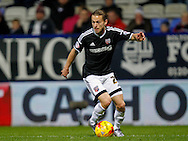 Lasse Vibe of Brentford during the Sky Bet Championship match between Bolton Wanderers and Brentford at the Macron Stadium, Bolton<br /> Picture by Mark D Fuller/Focus Images Ltd +44 7774 216216<br /> 30/11/2015