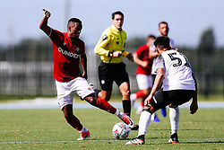 Niclas Eliasson of Bristol City during the 2nd leg of the match after the previous day's game was abandoned at half time due to extreme weather - Rogan/JMP - 14/07/2019 - IMG Academy, Bradenton - Florida, USA - Bristol City v Derby County - Pre-Season Tour Day 3.