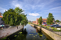 Town Centre, Brigg, North East Lincolnshire, United Kingdom, 13 September, 2016. Pictured: River Ancholme