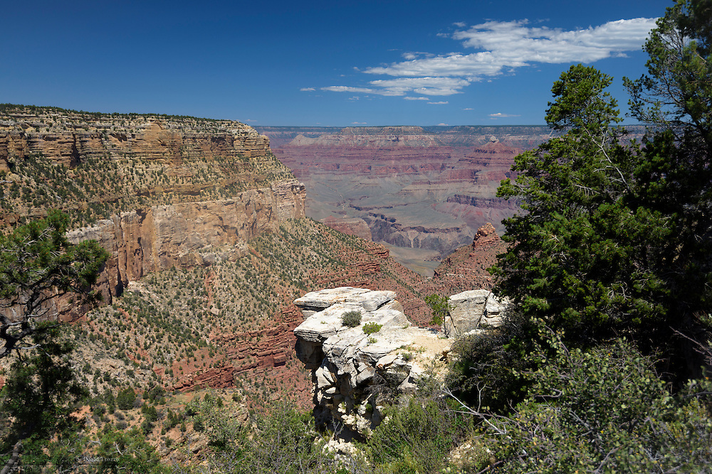 View from Bright Angel Trail, Grand Canyon National Park, Arizona, USA