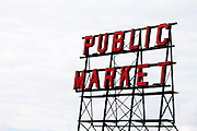 The famous Public Market in Seattle