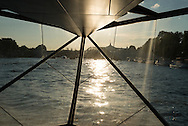 Paris . The Seine river and Paris quay view from a bateau mouche / La Seine et les quais de Paris vue depuis un bateau mouche