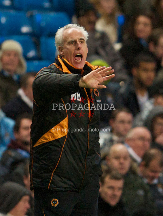 MANCHESTER, ENGLAND - Saturday, January 15, 2011:  Wolverhampton Wanderers' manager Mick McCarthy during the Premiership match against Manchester City at the City of Manchester Stadium. (Photo by David Rawcliffe/Propaganda)