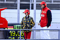 March 1, 2019 - Barcelona, Barcelona, Spain - Mattia Binotto  Ferrari Team Chief talking with John Elkann CEO of Exor and his son Oceano Noah Elkann portrait during the Formula 1 2019 Pre-Season Tests at Circuit de Barcelona - Catalunya in Montmelo, Spain on March 1. (Credit Image: © Xavier Bonilla/NurPhoto via ZUMA Press)
