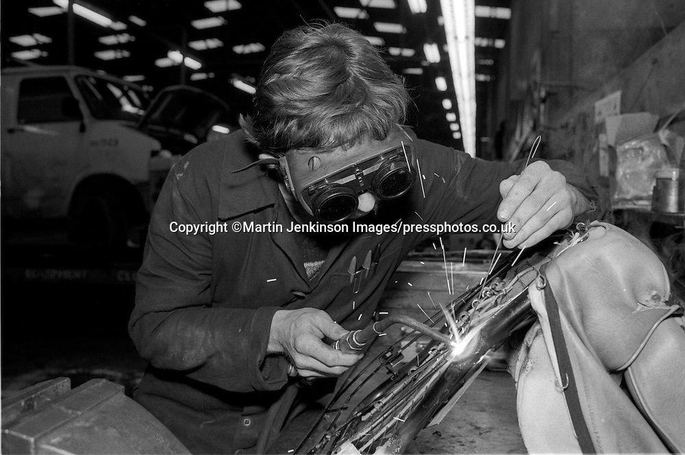 Apprentice gas welding Sheffield Works Department  28-02-1985.