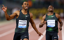 May 31, 2018 - Rome, Italy - Ronnie Baker (USA) and Christian Coleman (USA) compete in 100m men during Golden Gala Iaaf Diamond League Rome 2018 at Olimpico Stadium in Rome, Italy on May 31, 2018. (Credit Image: © Matteo Ciambelli/NurPhoto via ZUMA Press)