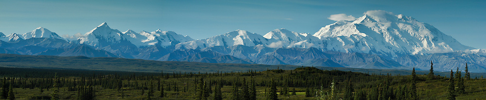 Denali as seen from the Wonder Lake campground in the Denali National Park and Preserve.