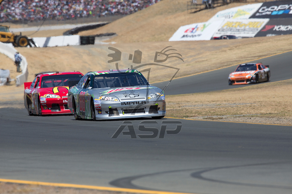 SONOMA, CA - JUN 24, 2012: Dale Earnhardt, Jr. (88) brings his car through the turns during the Toyota Save Mart 350 at the Raceway at Sonoma in Sonoma, CA.