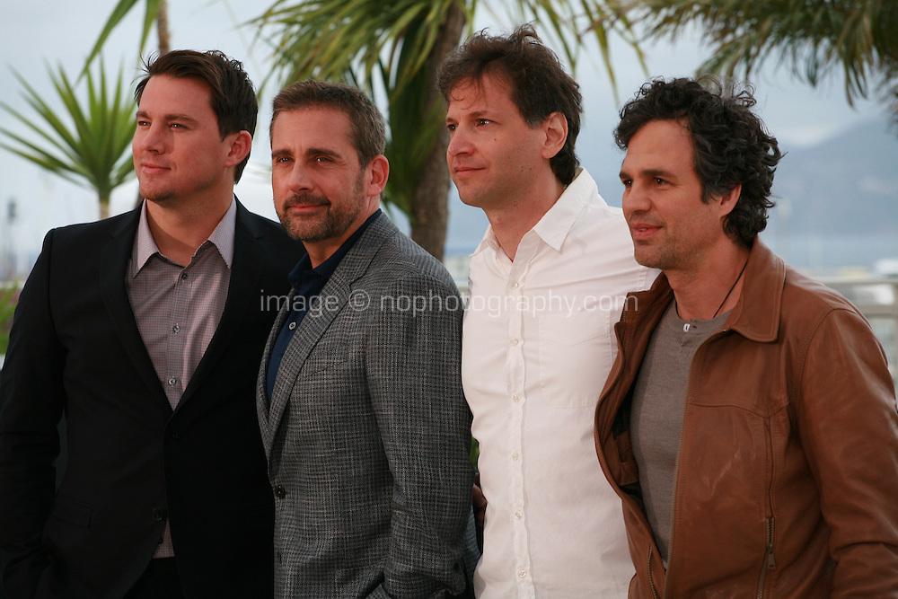 Channing Tatum, Steve Carell, director Bennett Miller and Mark Ruffalo at the photo call for the film Foxcatcher at the 67th Cannes Film Festival, Monday 19th May 2014, Cannes, France.