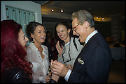 CLEO ROCOS; SALLY ANN LASSON; BETTINA VON HASE; PETER YORK,, Fortnum and Mason and Quartet books host a celebration for the publication of  The White Umbrella by Brian Sewell. Illustrated by Sally Ann Lasson. Fortnum and Mason. Piccadilly. London. 3 March 2015.