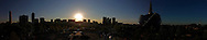 An 11 image panorama of the partial solar eclipse, as seen from the Forks, Sunday, May 20, 2012.