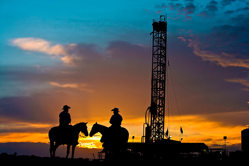 Natural Gas Rigs In Texas