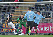 Conor McGrandles fires Falkirk ahead - Falkirk v Dundee, SPFL Championship at <br /> Falkirk Stadium<br />  - &copy; David Young - www.davidyoungphoto.co.uk - email: davidyoungphoto@gmail.com