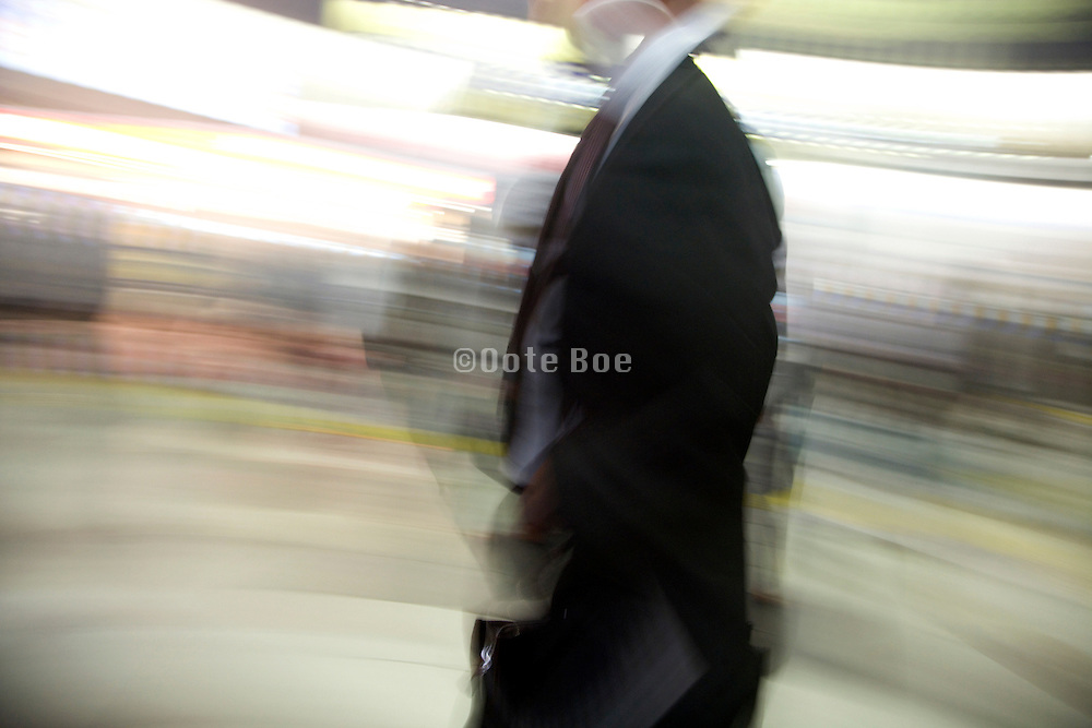 businessman in a motion blur