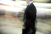 businessman in a motion blur