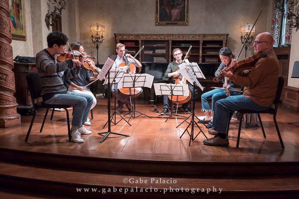 Rising Stars rehearsals in Rosen House at Caramoor in Katonah New York on October 23, 2017. <br /> (photo by Gabe Palacio)