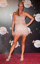 Denise Van Outen joins fellow Contestants as they line up for this years Strictly Come Dancing television show on BBC. Contestants will include Olympic medalist Victoria Pendleton, Tuesday September 11, 2012.Photo Andrew Parsons/i-Images