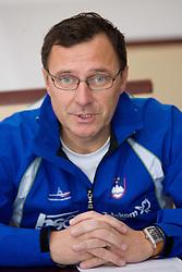 Andrej Jelenc at press conference of Kayak and Canoe Federation of Slovenia, on November 12, 2009, in Arena Tivoli, Ljubljana, Slovenia.  (Photo by Vid Ponikvar / Sportida)
