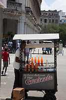 Street vendors selling everything from drinks to snacks are a common find on the streets of Havana.