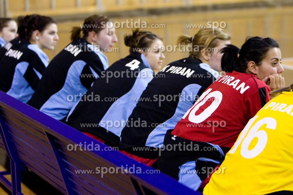 Jelena Cvorak (10) of Piran during handball match of 1st Slovenian women league Liga Z dezele between RK Olimpija Ljubljana and RK Piran on January 27, 2011 in Arena Tivoli, Ljubljana, Slovenia.  (Photo By Vid Ponikvar / Sportida.com)