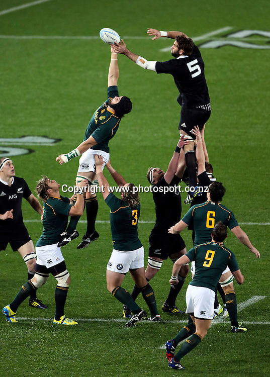 The Rugby Championship. New Zealand All Blacks versus South Africa. Rugby Union. Eden Park, Auckland, New Zealand. Saturday 14 September 2013. Photo: Photosport.co.nz