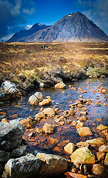 Spring sunshine in Rannoch Moor - looking towards Buachaille Etive Mor near Glencoe, Scotland<br /> <br /> (c) Andrew Wilson | Edinburgh Elite media