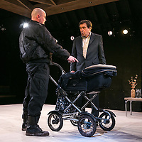 Cyprus Avenue by David Ireland;<br /> Directed by Vicky Featherstone;<br /> Stephen Rea as Eric Miller;<br /> Chris Corrigan as Slim;<br /> Jerwood Theatre Upstairs;<br /> Royal Court Theatre, London, UK;<br /> 5 April 2016