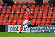 GOAL Nathan Delfouneso scores a second Swindon goal 2-0 during the EFL Sky Bet League 1 match between Swindon Town and Rochdale at the County Ground, Swindon, England on 18 October 2016. Photo by Daniel Youngs.