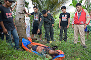 The body of Mr Balao, a Muslim was murdered apparantly for being an informer on the outskirts of Aleosan in North Cotabato province....Violence began after a deal to expand the Muslim autonomous zone was blocked by the Philippines Supreme Court. Rebels from the Moro Islamic Liberation Front (MILF) occupied some 15 villages in the region triggering a retaliatory assault by the Philippine army involving heavy artillery and air support...The military has pulled back to established camps but locals (CBO Volunteers) opposed to the Muslim rebels have taken up arms to defend their land from repeat incursion by the rebels..