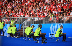 A lot of security at the UEFA EURO 2008 Group B soccer match between Austria and Croatia at Ernst-Happel Stadium, on June 8,2008, in Vienna, Austria.  (Photo by Vid Ponikvar / Sportal Images)