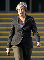 © Licensed to London News Pictures. 03/10/2017. Manchester, UK. British prime minister THERESA MAY seen on day three of the Conservative Party Conference. The four day event is expected to focus heavily on Brexit, with the British prime minister hoping to dampen rumours of a leadership challenge. Photo credit: Ben Cawthra/LNP