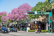 Corner of Commonwealth Ave and Harbor Blvd in Downtown Fullerton