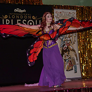 Laura Desiree, Canada preforms at the London Burlesque Festival the VIP Opening Gala at Conway Hall on 18th May 2017, UK. by See Li