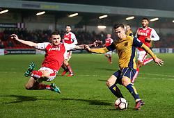 Joe Bryan of Bristol City fires a shot at goal  - Mandatory by-line: Matt McNulty/JMP - 17/01/2017 - FOOTBALL - Highbury Stadium - Fleetwood,  - Fleetwood Town v Bristol City - Emirates FA Cup Third Round Replay