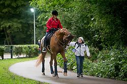 Werth Isabell, GER, Bella Rose<br /> Rotterdam - Europameisterschaft Dressur, Springen und Para-Dressur 2019<br /> Training Session Dressur<br /> 18. August 2019<br /> © www.sportfotos-lafrentz.de/Sharon Vandeput