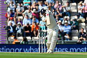 Keaton Jennings of England during the first day of the 4th SpecSavers International Test Match 2018 match between England and India at the Ageas Bowl, Southampton, United Kingdom on 30 August 2018.