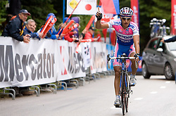 Winner of the stage Simon Spilak  (SLO) of Lampre - N.G.C. at finish line at hill Krvavec at 3rd stage of Tour de Slovenie 2009 from Lenart to Krvavec, 175 km, on June 20 2009, Slovenia. (Photo by Vid Ponikvar / Sportida)
