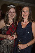 MRS. MARK FREY; LIZ COWPE-COLES, The Royal Caledonian Ball 2015. Grosvenor House. Park Lane, London. 1 May 2015.