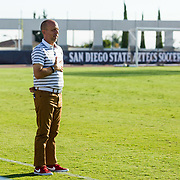09 September 2018: The San Diego State men's soccer team beat UC Irvine in overtime 2-1 Sunday afternoon at the SDSU Sports Deck.