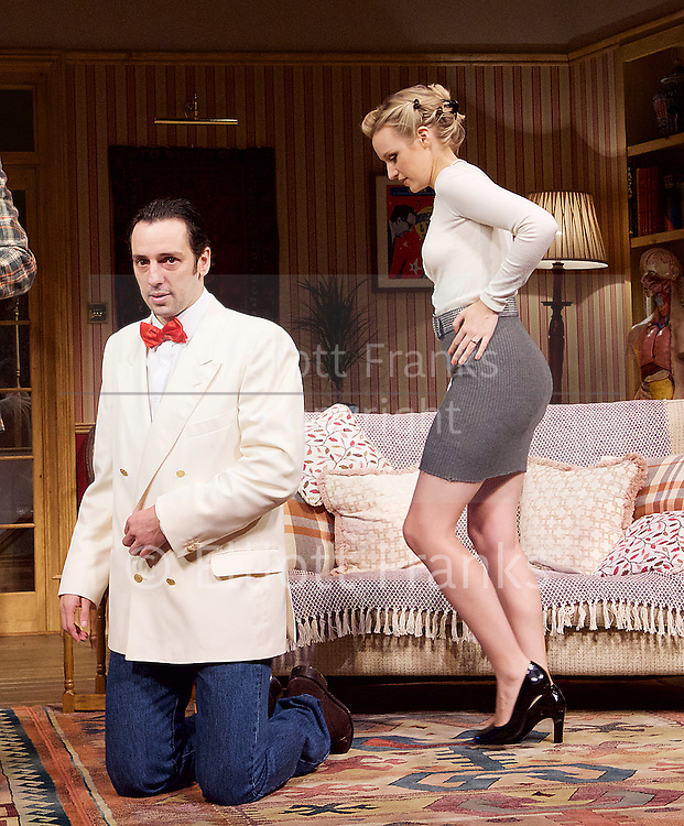 Dead Funny<br /> by Terry Johnson<br /> at the Vaudeville Theatre, London, Great Britain  Press Photocall<br /> 1st November 2016 <br /> <br />  <br /> <br /> <br /> Ralf Little as Nick <br /> <br /> Emily Berrington as Lisa <br /> <br /> <br /> Photograph by Elliott Franks <br /> Image licensed to Elliott Franks Photography Services