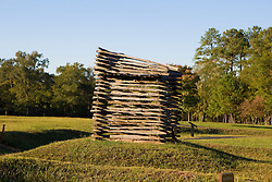 A reconstructed version of the rifle tower used to attack the Star Fort and British encampments located at Ninety Siix National Historic Site, near Ninety-Six, SC.