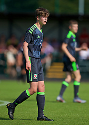 WREXHAM, WALES - Monday, July 22, 2019: Ethan Crookes of North during the Welsh Football Trust Cymru Cup 2019 at Colliers Park. (Pic by Paul Greenwood/Propaganda)