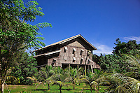 Traditional house of the Melanau tribe in Sarawak is known as a tall house.