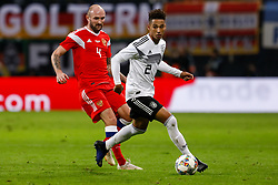 November 15, 2018 - Leipzig, Germany - Thilo Kehrer (R) of Germany and Konstantin Rausch of Russia vie for the ball during the international friendly match between Germany and Russia on November 15, 2018 at Red Bull Arena in Leipzig, Germany. (Credit Image: © Mike Kireev/NurPhoto via ZUMA Press)