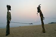 Art on the beach at Cape Coast, Ghana.<br />