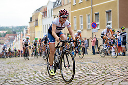 Joëlle Numainville (Cervélo Bigla) tackle the Meerane Wall at Thüringen Rundfarht 2016 - Stage 3 a 115km road race starting and finishing in Altenburg, Germany on 17th July 2016.